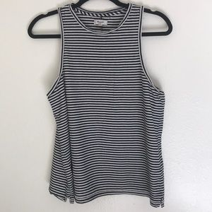 Madewell striped black white scoop neck tank top M